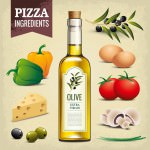 Olive oil - Pizza ingredients - Vintage