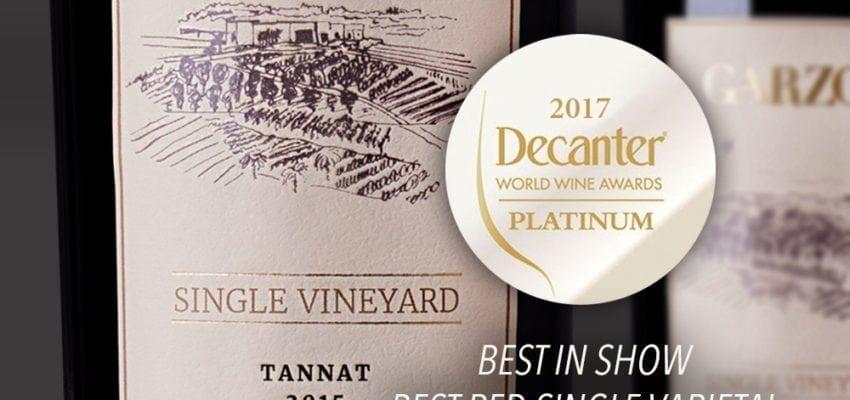 Decanter World Wine Awards 2017: Bodega Garzón Wins Multiple Coveted Decanter Awards