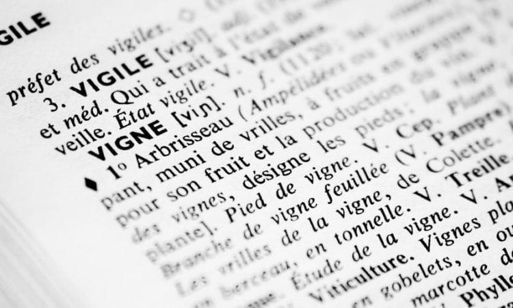 El léxico del vino: selección de palabras