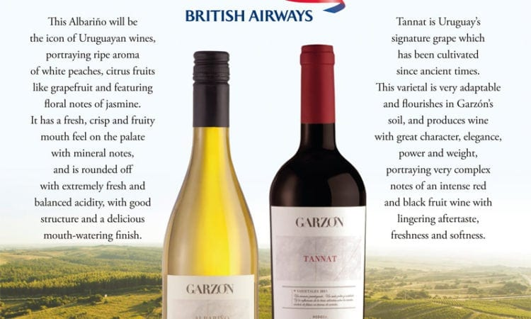 Bodega Garzón a bordo en British Airways